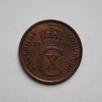 Исландия 5 эйре 1931 г., РЕДКАЯ, СОСТОЯНИЕ