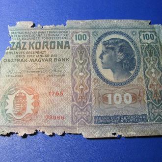 100 Крон Австро-Венгрия 1912
