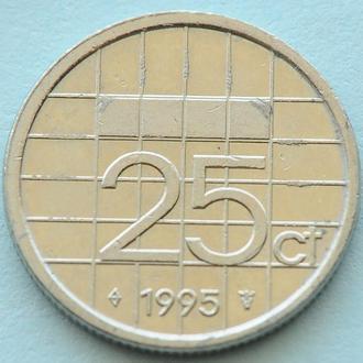 (А) Нидерланды 25 центов, 1995