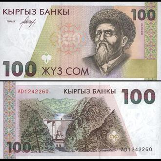 КИРГИЗИЯ 100 сом 1994г. UNC