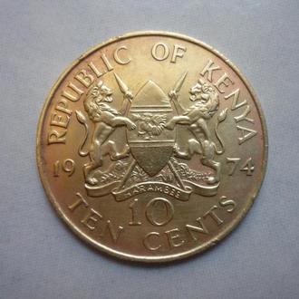 Кения 10 центов 1974