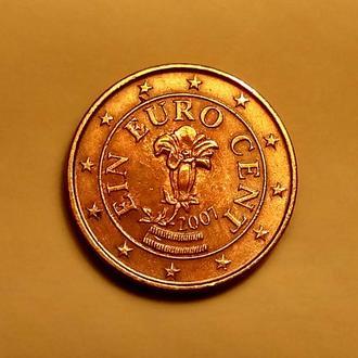 1 евро цент 2007 года, Австрия - а