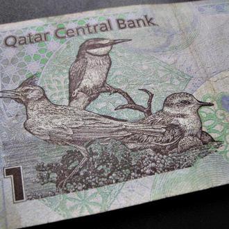КАТАР 1 катарский риал 2003 года Обиходная банкнота