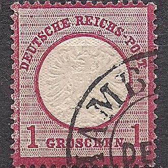 Рейх, 1872 г., первые марки, марка № 19