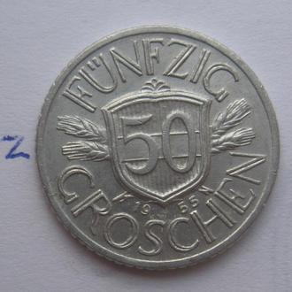 АВСТРИЯ 50 грошей 1955 года.