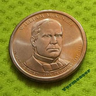 2013 Р США 1 доллар 25-й президент Уильям Мак-Кинли (William McKinley) UNC