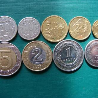 Польша 1 2 5 10 20 50 грошей 1 2 5 злотых 2016 Годовой набор