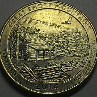 США 25 центов 2014 год