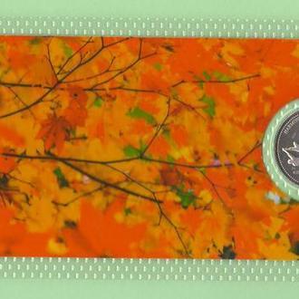 Монета КАНАДА 25 центов HARMONY ГАРМОНИЯ ГАРМОНІЯ квотер 2000 год в пластике блистер запайка