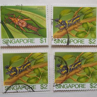 Сингапур 1985 г - насекомые