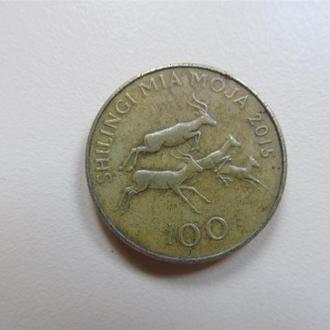 Танзания 100 шиллингов 2015 г.