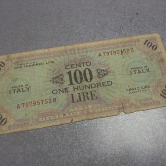 банкнота 100 лир 1943 италия №5