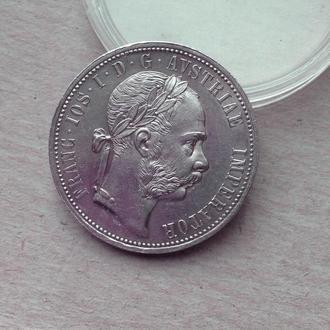 Австро Венгрия 1 флорин 1875 серебро редкий UNC !