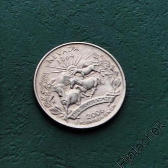 25 центов США Невада 2006 г.