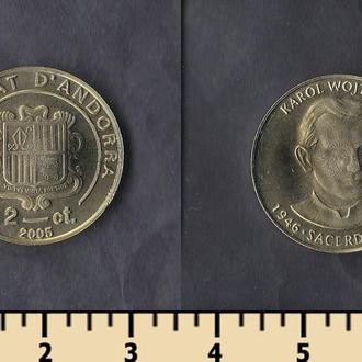 Андорра 2 сентима 2005
