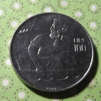 Сан-Марино 1972 год монета 100 лир !