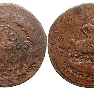 2 копейки 1763 СПМ года №4100