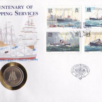 Гернси остров 1 фунт 1983