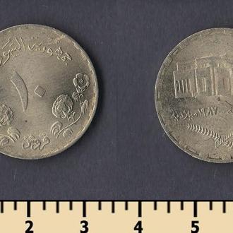 Судан 10 гирш 1987