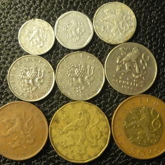 Комплект монет Чехії 1993 (повний)