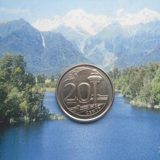Сингапур 20 центов 2013 года