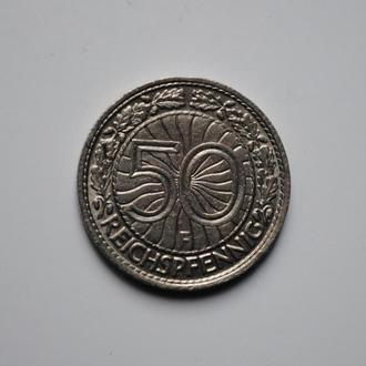 Германия 50 пфеннигов 1929 г. F, XF-UNC, РЕДКАЯ