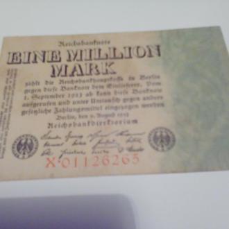 1 мільйон марок Німеччина-1923-з номером-раритет
