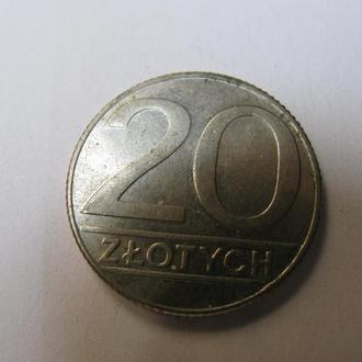 20 Злотих Злотых Польща Польша 1989 рік