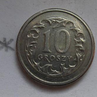 ПОЛЬША, 10 грошей 2008 года.