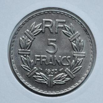 Франция 5 франков 1933 г., UNC