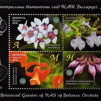Беларусь 2016 Орхидеи. Флора MNH