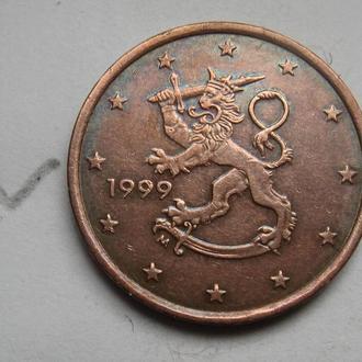 ФИНЛЯНДИЯ 5 евроцентов 2009 года.