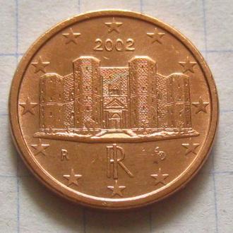 Италия_ 1 евро цент 2002 года  оригинал