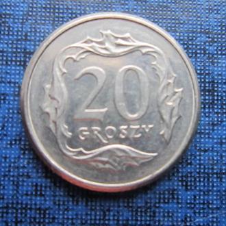 монета 20 грошей Польша 1998