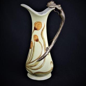 ваза фарфор бронза кувшин графин 25 см !!!