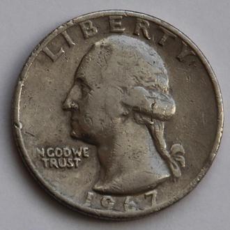 США 25 центов (квотер) 1967
