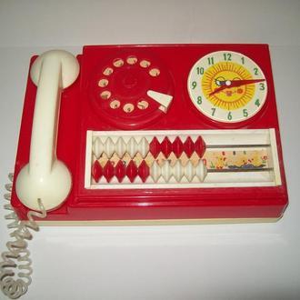 Игрушка телефон-часы-счеты про-во СССР