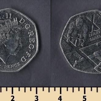 Великобритания 50 пенсов 2014