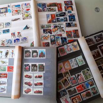 Кляссеры с почтовыми марками зар. стран (Куба,Никарагуа,Монголия и т.д.) и СССР (70х - 80х годов)
