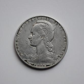 Французское Сомали 5 франков 1948 г., VF, 'Колония Франции (1948-1965)', РЕДКАЯ