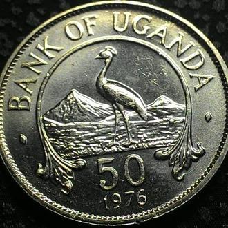 Уганда, 50 центов 1976 год ОТЛИЧНАЯ!!!!!