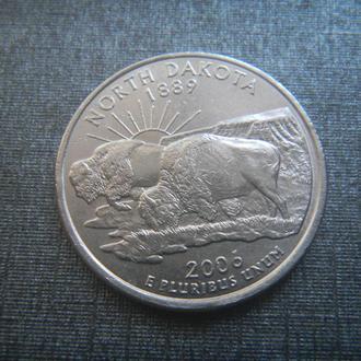 США 25 центов Северная Дакота D 2006 (RL207)