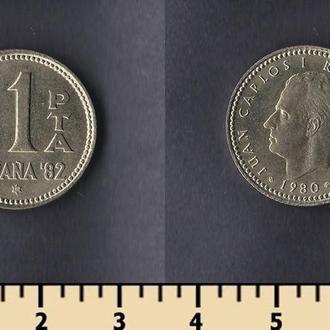 Испания 1 песета 1980