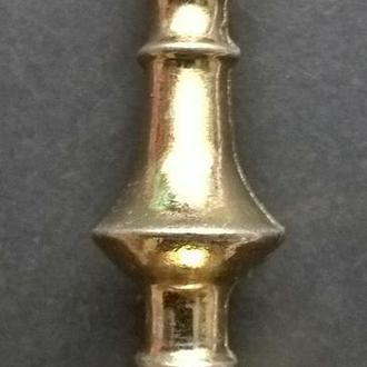 Англия. Подсвечник коллекционный антикварный миниатюрный с клеймами. Номерной.