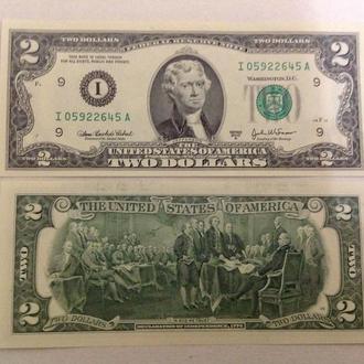 США 2 доллара 2003 банк ( I ) UNC