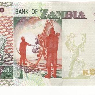 Замбия 20000 квач 2011 UNC