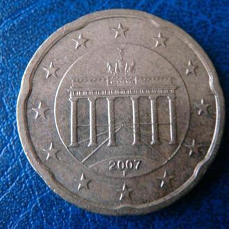 Германия 20 центов 2007 F