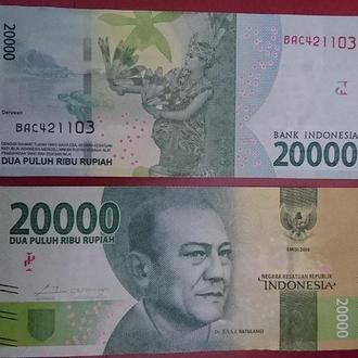 Indonesia Индонезия  20000 Rupiah 2016  NEW UNC  JavirNV