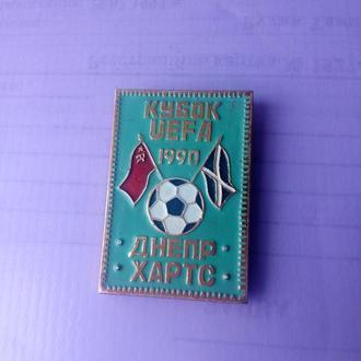 Знак Днепр-Хартс Кубок УЕФА 1990г.