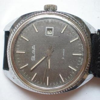 часы Слава редкая модель рабочие сохран 04091